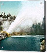 Yellowstone Park: Geyser Acrylic Print