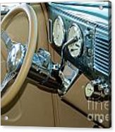 40 Ford Coupe Dash Acrylic Print