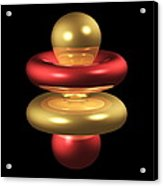 4fz3 Electron Orbital Acrylic Print by Dr Mark J. Winter