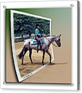 4h Horse Competition Acrylic Print