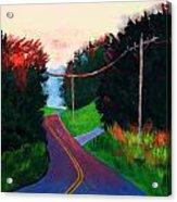 4th Of July Sunset Acrylic Print