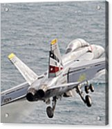An Fa-18f Super Hornet Launches Acrylic Print