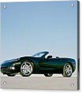 Black 2005 Corvette Acrylic Print