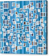 Blue Abstract Acrylic Print by Frank Tschakert