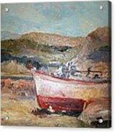 Boats Acrylic Print by George Siaba