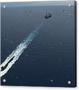 Carrier Strike Group Formation Of Ships Acrylic Print