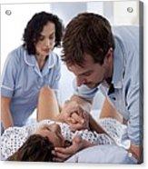 Childbirth Acrylic Print by