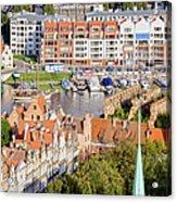 City Of Gdansk In Poland Acrylic Print