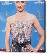 Dianna Agron Wearing A Carolina Herrera Acrylic Print