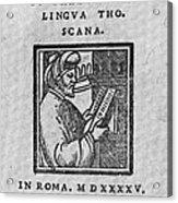 Euclid, Ancient Greek Mathematician Acrylic Print