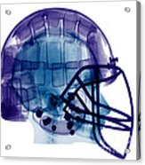 Football Helmet, X-ray Acrylic Print