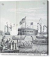Fulton Steam Frigate, 1814 Acrylic Print
