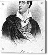 George Gordon Byron (1788-1824) Acrylic Print