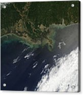 Gulf Oil Spill, April 2010 Acrylic Print by Nasa