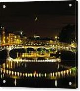 Hapenny Bridge, River Liffey, Dublin Acrylic Print