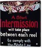 Intermission Slide Acrylic Print