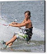 Kite Boarding Acrylic Print by Jeanne Andrews