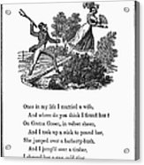 Mother Goose, 1833 Acrylic Print by Granger