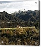 Ojai Valley With Snow Acrylic Print