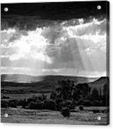 Rain Sun Rays Acrylic Print