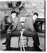 Silent Still: Two Men Acrylic Print by Granger