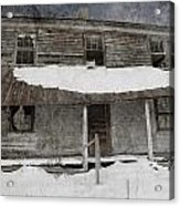 Snowy Abandoned Homestead Porch Acrylic Print
