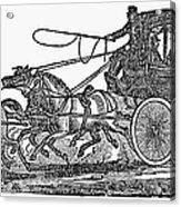 Stagecoach, 19th Century Acrylic Print