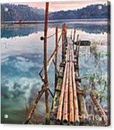 Tamblingan Lake Acrylic Print by MotHaiBaPhoto Prints