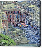 5 Terre Vernazza Landscape Acrylic Print