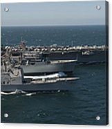 Underway Replenishment At Sea With U.s Acrylic Print