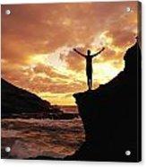 Yoga At Sunrise Acrylic Print