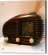 50's Radio Acrylic Print by Alessandro Della Pietra