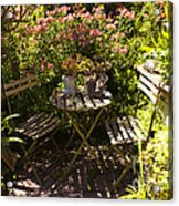 542 Cf Peaceful Garden Acrylic Print