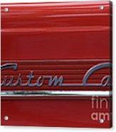 56 Ford F100 Custom Cab Acrylic Print