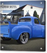 56 Studebaker At The Wigwam Motel Acrylic Print by Mike McGlothlen