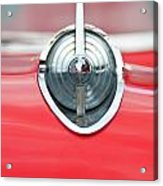 '57 Chevy Hood Ornament 8508 Acrylic Print