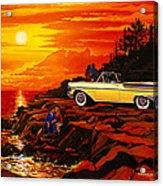 57 Merc Sunset Acrylic Print