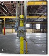 An Empty Industrial Building In Los Acrylic Print by Dan Kaufman