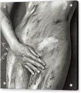 Beautiful Soiled Naked Woman's Body Acrylic Print
