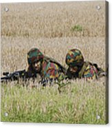 Belgian Paratroopers On Guard Acrylic Print