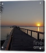 Evening On The Indian River Lagoon Acrylic Print