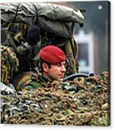 Members Of A Recce Or Scout Team Acrylic Print