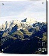 Ojai Valley With Snow Acrylic Print