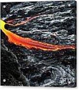 River Of Molten Lava Acrylic Print