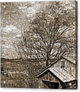 Rustic Hillside Barn Acrylic Print