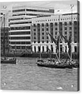 Thames Barges Tower Bridge 2012 Acrylic Print