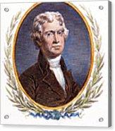 Thomas Jefferson (1743-1826): Acrylic Print