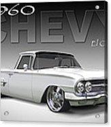 60 Chevy El Camino Acrylic Print