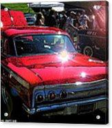 62 Chevy Impala Ss Back Acrylic Print