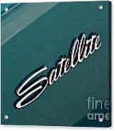 65 Plymouth Satellite Logo-8502 Acrylic Print